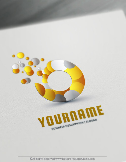 Logo Design made simple with the Art Logo Maker. Gold Bubbles Logo Template