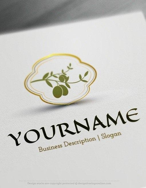 Design Free Logo Online - Olive branch Logo Template