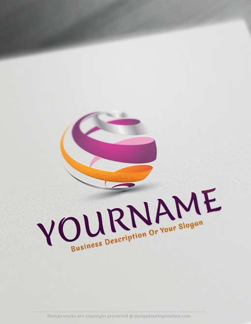 Design Free Logo Maker - Spiral Globe online Logo Template