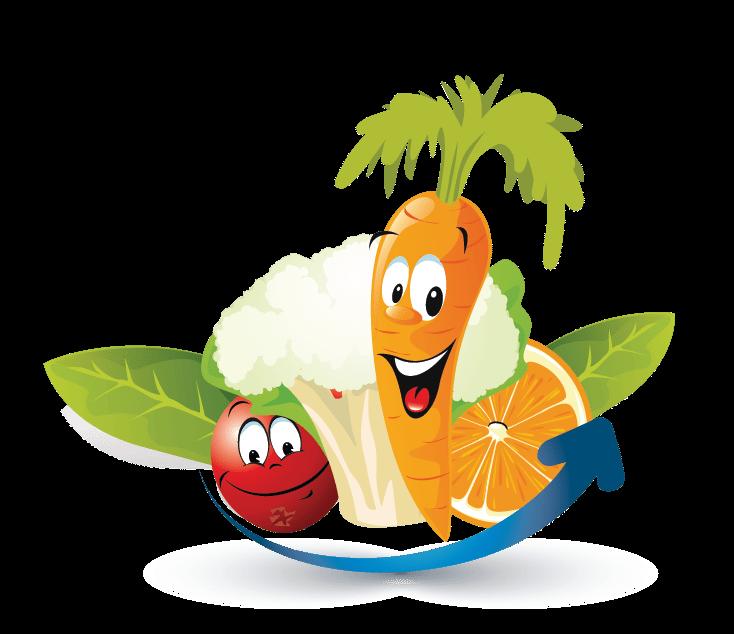 Fruits Vegetables Online Logo Template - Food Logo Maker