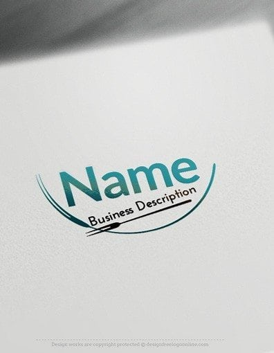 00518 Fork logo design free logos online-04
