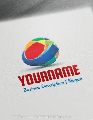 Design Free Logo: Colorful Abstract Circle Logo Templates