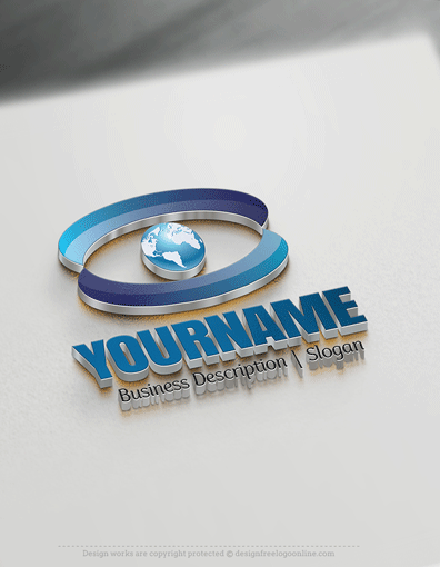 Design Free 3D Eye Globe Logo Templates