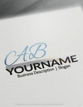 00537 3D AB logo design free logo online