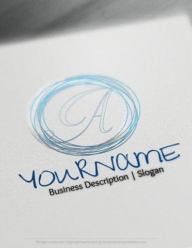 design free logo circle sketch alphabet logo template