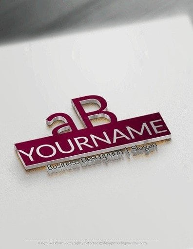 Design Free Logo Online: Simple Alphabet Logo Template