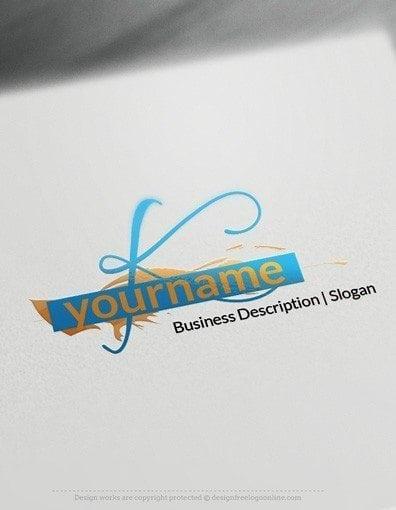 00542 LETTER 2D logo design free logo online-03