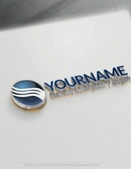 00544 3D Sphere and arrow logo design free logos online-04