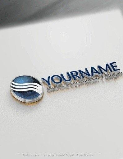 00544 3D Sphere and arrow logo design free logos online-04