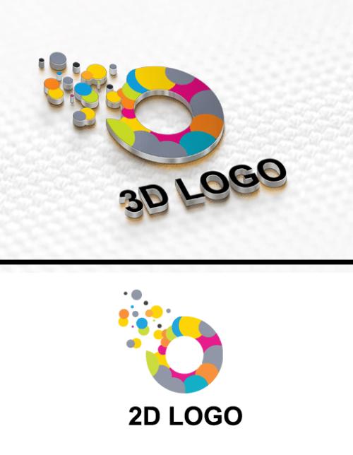 2D VS 3D LOGO