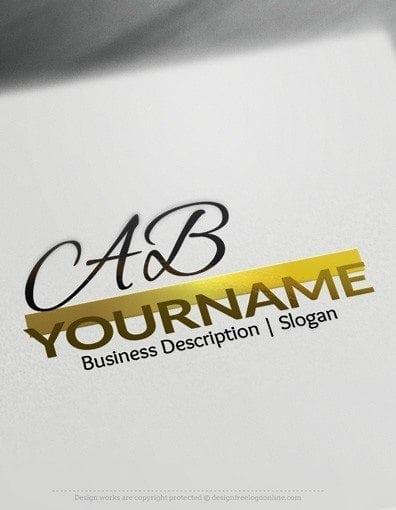 3D AB logo design free logo online2