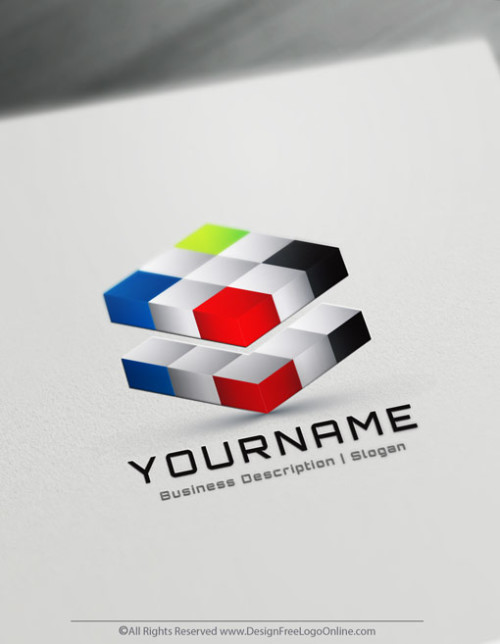 Create Your Own Online 3D Cubes Logo Design Ideas
