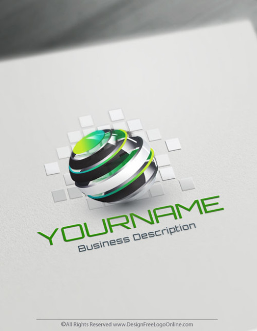 Design Free 3D Globe Spiral online Logo Template