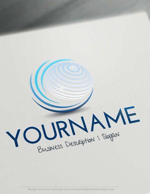 Design Online Logo Maker - Free 3D Globe Online Logos
