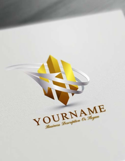3D Logo Maker Online Abstract Arrow Logo Template ...