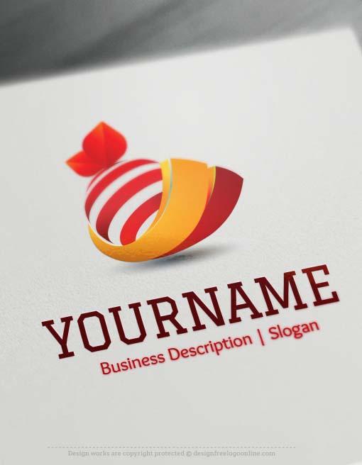 Design Free Logo 3d Orange Online Logo Template