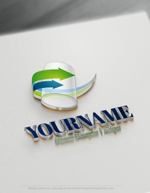 Create Your Own Online 3D Tube Logo Design Ideas.