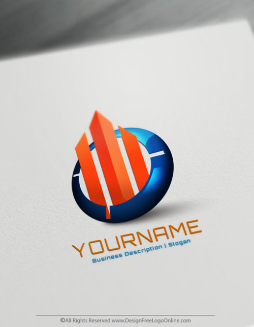 Abstract Lines Logo Design Ideas - 3D Real Estate Agency Logo