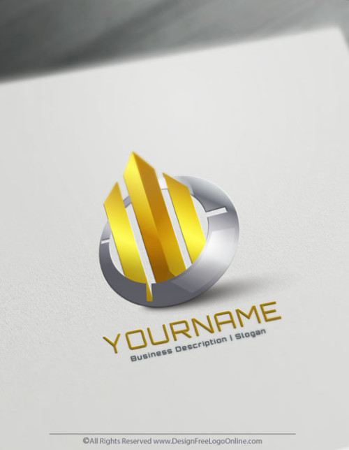 Abstract Gold Lines Logo Design Ideas