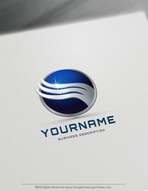 Abstract Waves Logo Template