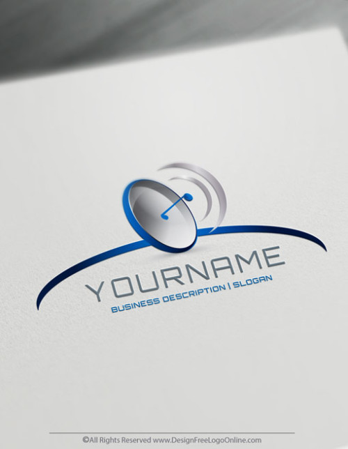 3D Logo Creator. Create cool Gps Blue Radar logo ideas