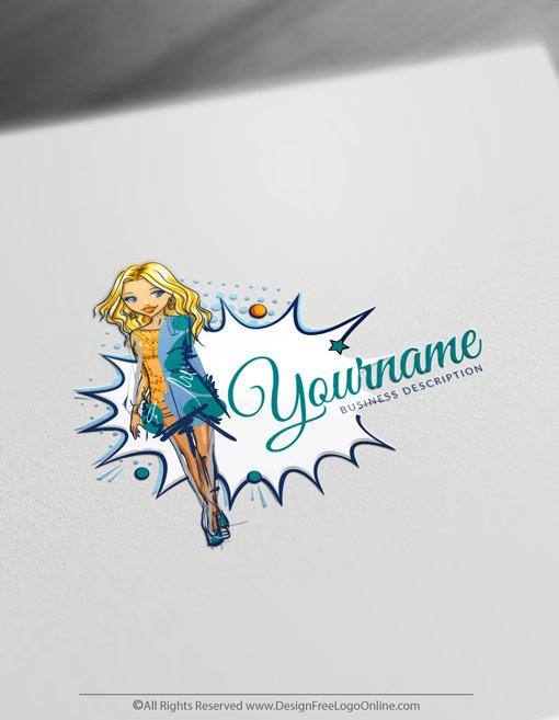 Creative Fashion woman Logos Maker