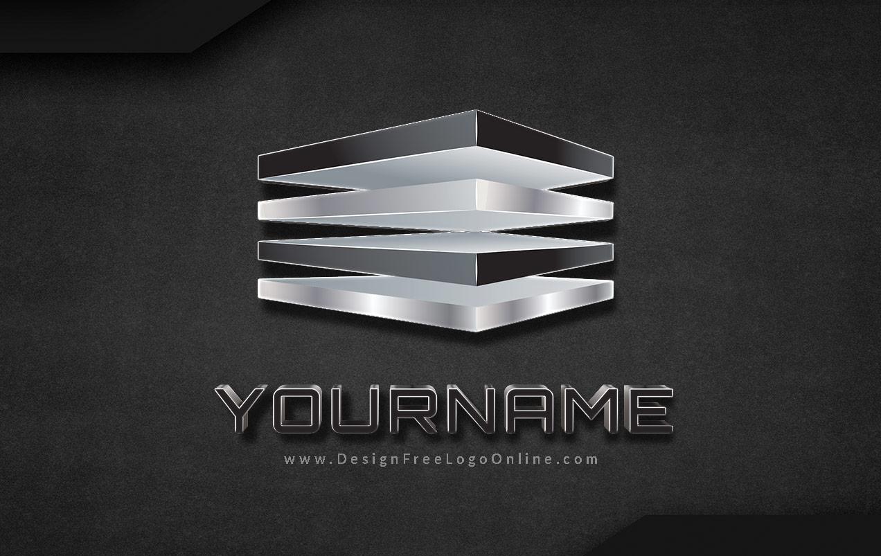Black 3D Logo Maker