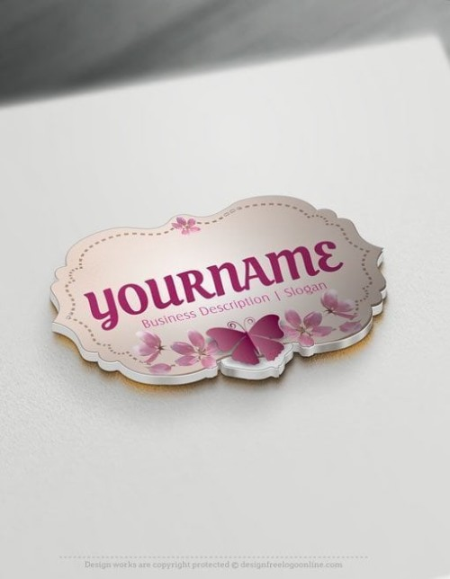Design your own Butterfly frame Logo online.