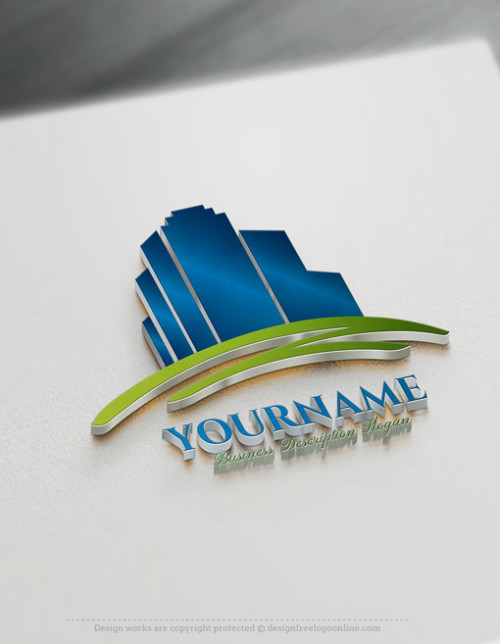 Create Your Own Online Real Estate Buildings Logo Design Ideas