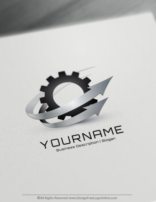 Create a Industry Gear Logo with the Industrial Logo Maker