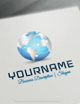 Design-Free-3D-Globe-Network-Logo-Templates