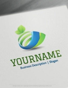 Design-Free-3D-Orange-Online-Logo-Template
