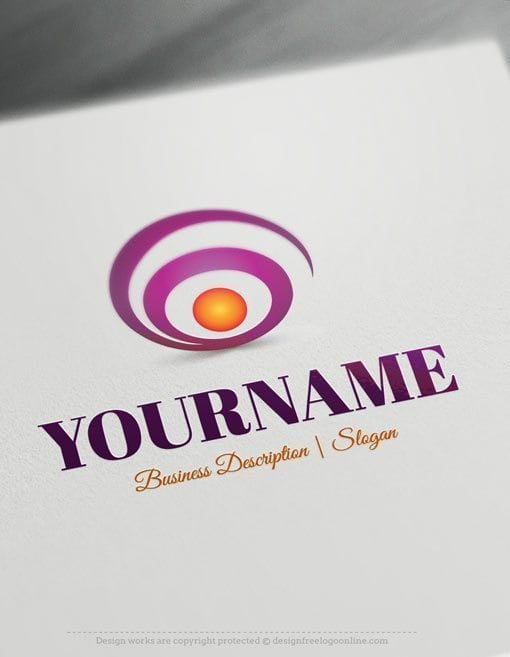 Design-Free-Abstract Spiral-Online-Logo-Template