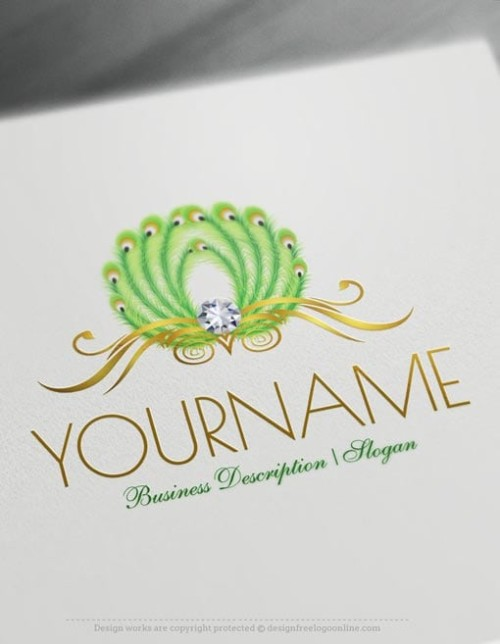 Design-Free-Animal-Peacock-feathers-Online-Logo-Template