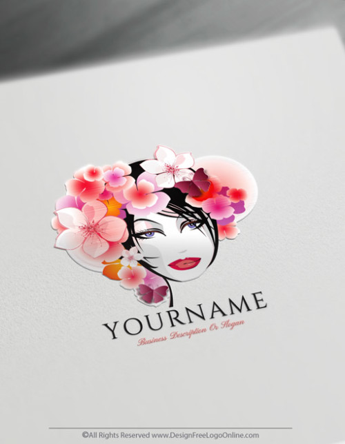 Design Free Beautiful Branding With The Woman Flowers Hair Logo