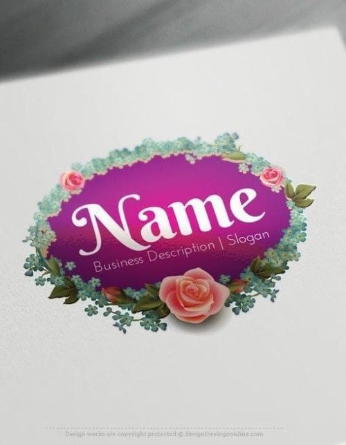 Design-Free-Beautiful-flower-vintage-frame-Logo-Template