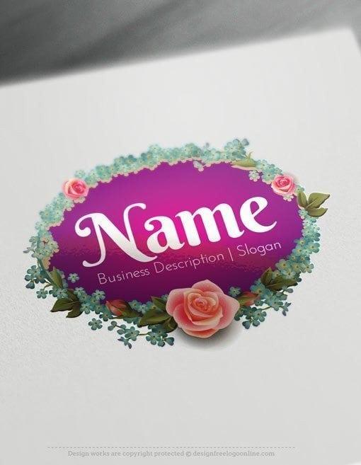Design-Free-Beautiful-flower-vintage-frame-Logo-Template