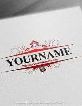 Design Free Beautiful frame Online Logo Template