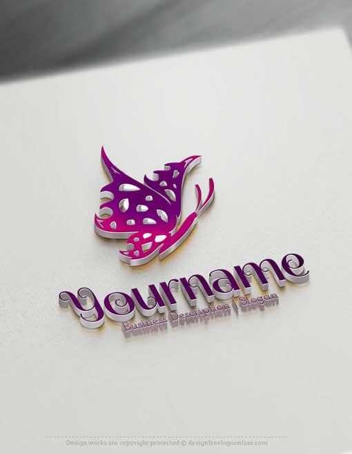Design-Free-Butterfly-Online-Logo-Template
