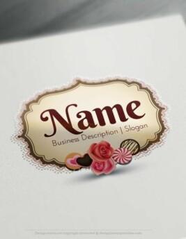 Design-Free-Candy-vintage-frame-Logo-Template