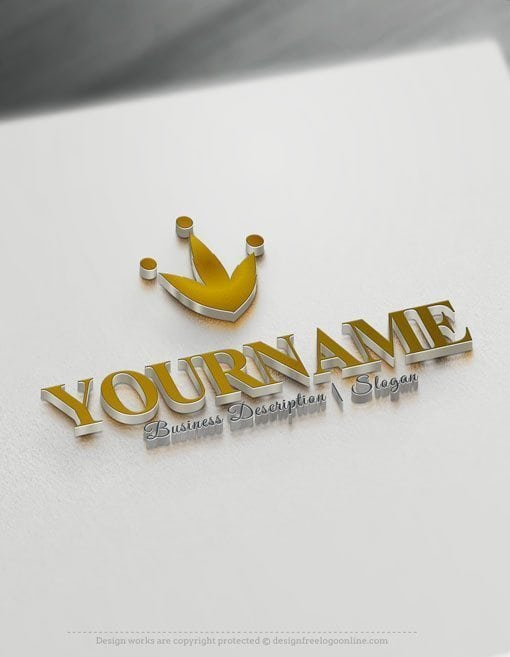Design-Free-Crown-Online-Logo-Template