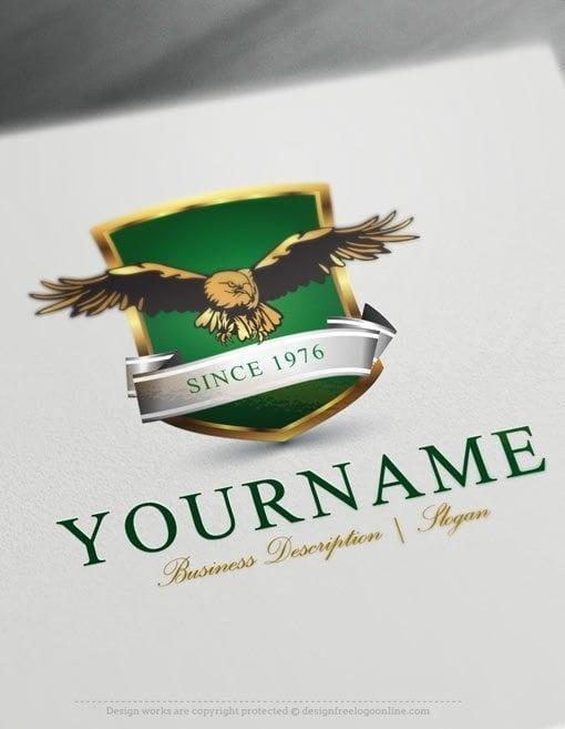 design free logo: create your own eagle shield logo template