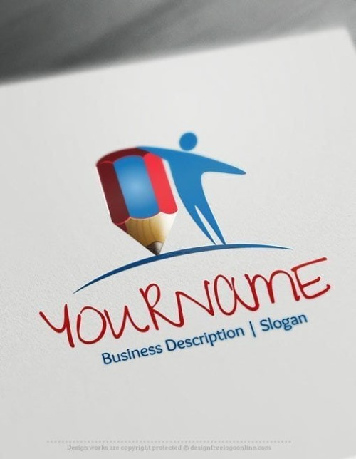Design-Free-Education-Human-Logo-Template