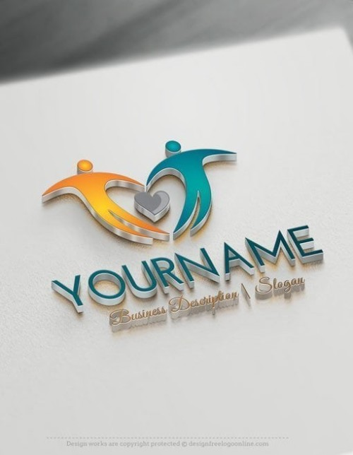 Family Logo creation made instantly with People logo template.