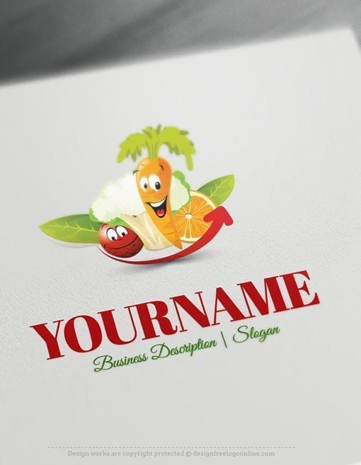 Design-Free-Health-Diet-Fruits-Vegetables-Online-Logo-Template