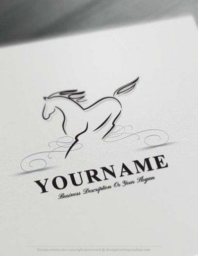 Design Free Logo: Horse online Logo Template