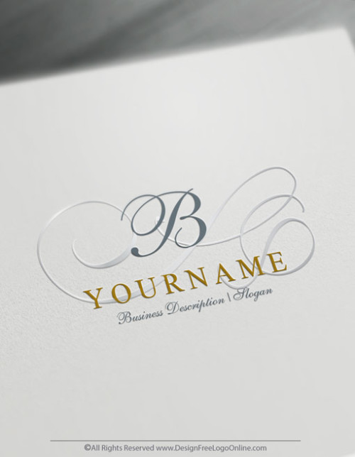 Design Free Letter Logo - Decorative Monogram Alphabet Logo Template