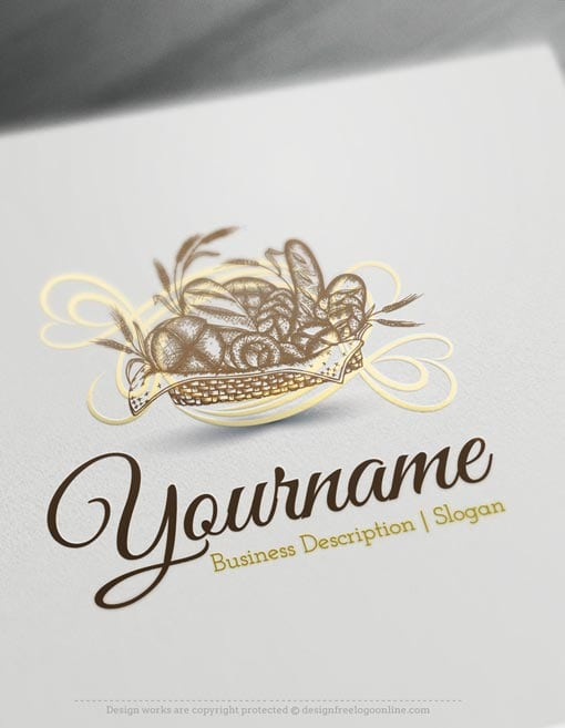 Design Free Logo: Bakery Online Logo Template