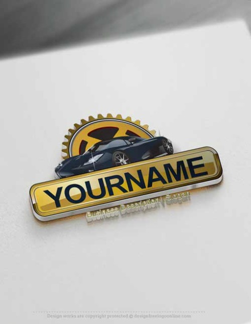 Design Free Car Logo Online - Garage Logo Template