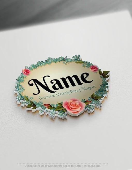 Design-Free-Logo-Flowers-vintage-frame-Logo-Template